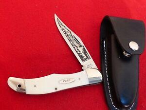 VINTAGE CASE 4165 SSP 1977 TEXAS SPECIAL FOLDING HUNTER KNIFE & sheath
