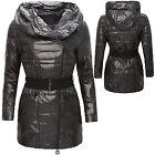Chaqueta De Mujer plumón con capucha invierno acolchado abrigo forrado NUEVO