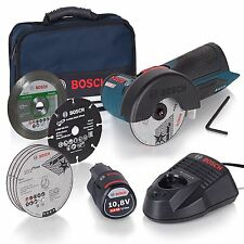 Bosch START-SET Winkelschleifer GWS 10,8-76 V-EC + Akku + Lader + Softbag + 7xTS