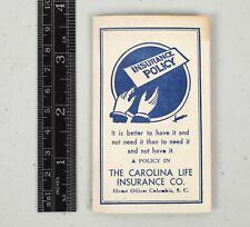 Vintage Advertising Carolina Life Insurance Co. Band Aid Novelty Columbia SC