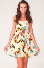 Topshop by Motel Hawaiian Floral Print Clarissa Skater Dress UK 8 EURO 36 US 4