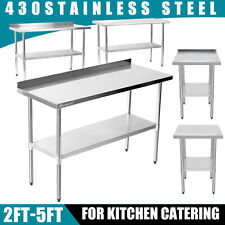 More details for commercial stainless steel catering table work bench worktop kitchen/restaurant
