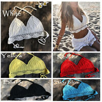 Swimwear 2019 Swimsuit Crochet Bikini Tops Summer Bikinis Knitted Sexy Bra