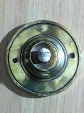 Original Reclaimed Antique Brass Door Bell Push Flush Fitting Knocker (PH363)