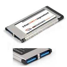 34mm Express Card Expresscard to 2 Port USB 3.0 Adapter for Laptop NEC Chip