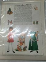 1963 VINTAGE CHRISTMAS AT BETSY MCCALL McCalls  PAPER DOLLS UNCUT UNUSED