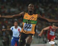 Usain Bolt Autograph Signed 8x10 Photo Jamaica Olympics RIO Gold JSA Cert #10