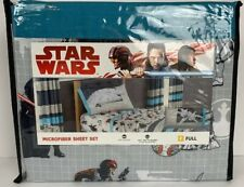 Disney Star Wars Size Full, Microfiber 4-Piece Sheet Set Reversible Pillowcase