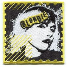 BLONDIE postage stamp EMBROIDERED IRON-ON PATCH Free Shipping debbie harry p4041