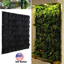 56 Pocket outdoor Vertical Greening Hanging Wall Garden Plant Bags Wall Planter