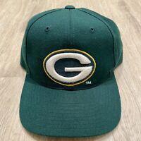 Vintage Drew Pearson Green Bay Packers Hat NFL Snapback NFC VTG 90s Green