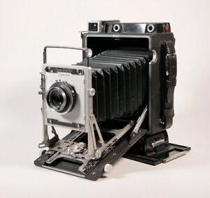 "Crown Graphic 4x5"" MINT camera bundle: Grafmatic, 6x9 backs, 4x5 dark slides etc"