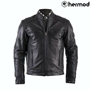 Helstons Trust Leather Motorcycle Motorbike Jacket - Black
