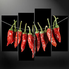RED DRY CHILLIES CANVAS WALL ART PICTURES PRINTS LARGER SIZES AVAILABLE