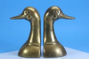 Solid Brass Duck, Bird Bookends, Door Stops.