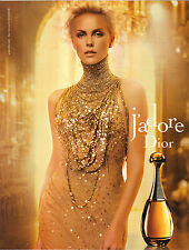 PUBLICITE ADVERTISING  2011 CHRISTIAN DIOR  Parfum J'ADORE CHARLIZE THERON