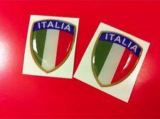 2 Adesivi Resinati Sticker 3D Scudetto Stemma ITALIA Tricolore Bandiera 3 cm