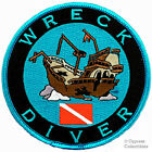 WRECK DIVER iron-on embroidered DIVE PATCH SCUBA DIVING SHIPWRECK ROUND emblem