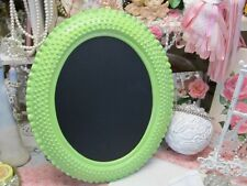 OVAL HOBNAIL CHALKBOARD or WALL MIRROR~JEWEL GREEN~Shabby~Cottage~Chic