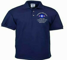 123RD AIRLIFT WING*LOUISVILLE IAP*USAF ANG*EMBROIDERED LIGHTWEIGHT POLO SHIRT