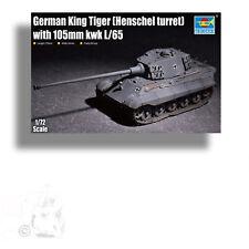 TRUMPETER 1/72 GERMAN KING TIGER (HENSCHEL TURRET) w 105mm KWK L/65 KIT 07160