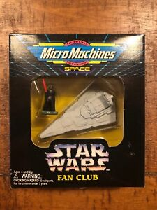 Star Wars Micromachines Fan Club Limited Edition Darth Vader And Star Destroyer