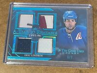 2020-21 Leaf In The Game Used Eric Lindros Year to Remember Quad Jersey 5/7