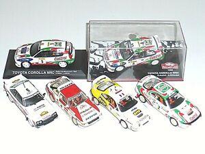 Lot 6 Voitures IXO ALTAYA TROFEU TOYOTA CELICA COROLLA WRC 1/43 Model Rally Cars