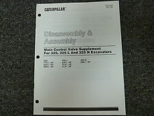 Caterpillar Cat 325 L N Excavator Main Control Valve Disassembly Assembly Manual