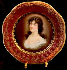 Antique Royal Vienna porcelain Portrait Cabinet plate Amarosa Marked Back 9�
