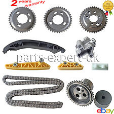 GEARS CHAIN GUIDES TENSIONER +TIMING CHAIN KIT FOR FORD TRANSIT 2.2 2.4 RWD