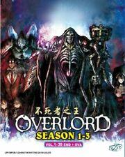 Overlord Anime DVD (Season 1 - 3)(Vol : 1 to 39 end + OVA) with English Audio