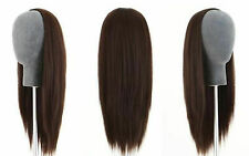 Remeehi 3/4 Half Wig 100% Indian Remy Human Hair Silky Straight Hair Weft Cap