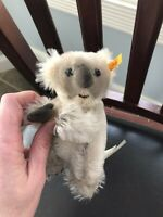 Steiff Mini Koala Mohair Vintage Tags Attached 5 Inches Rare