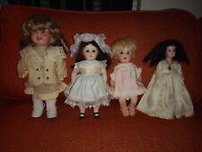Four Antique German Bisque Dolls Porcellanfabrik Mengersgereuth Marseille Knoch