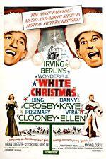 "IRVING BERLIN'S WHITE CHRISTMAS - MOVIE POSTER 12"" X 18 - BING CROSBY DANNY KAYE"