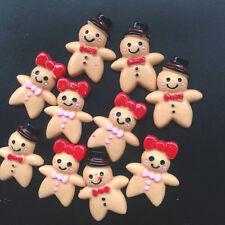 10pcs Gingerbread WoMan/Man Resin Flatback Cabochon ScrapbookIng for phone/1