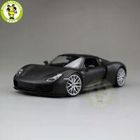 1/24 Porsche 918 Spyder Welly 24055 Diecast Model Racing Car Matte Black