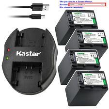 Kastar Battery Dual Charger for Sony NP-FH100 & DCR-DVD508 DCR-DVD510 DCR-DVD602