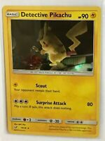 Detective Pikachu HOLO RARE 10/18 SM SHINY Pokemon Card TCG NM