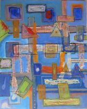 ABSTRACT PAINTING COLLAGE Bay Area EXPRESSIONISM Dr Gross JEWISH ARTIST LISTED