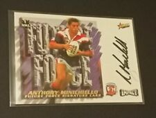 2001 NRL Impact Future Force Signature – FF10 Anthony Minichiello Sydney Rooster