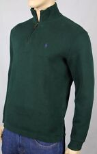 Polo Ralph Lauren 3XB Green 1/2 Half Zip Sweater Purple Pony NWT