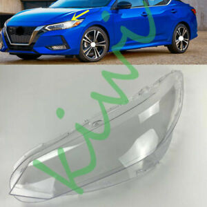 For Nissan Sentra 2020-2021 Left Side Headlight Clear Cover + Glue Replace