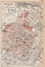 MODENA vintage town city pianta della città. Italy 1958 old vintage map chart