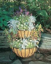 """2-Tier Cascade Planter with Molded Coco Liners - 36"""" H x 23"""" Dia"""