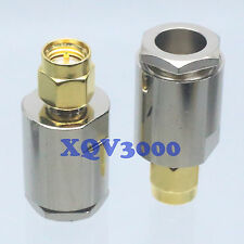 2pcs Connector SMA male plug pin clamp for RG5 RG6 LMR300 RG304 RF COAXIAL