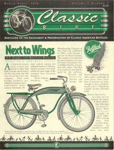 CLASSIC BIKE NEWS Rollfast part 1 antique bicycle newsletter Volume 2 Number 2