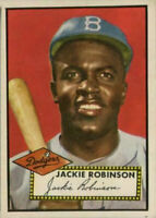 1952 Topps Jackie Robinson Baseball Card Refrigerator Magnet Brooklyn Dodgers