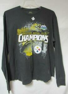 Pittsburgh Steelers Mens X-Large Super Bowl XLIII Champions Waffle Shirt A1 1591